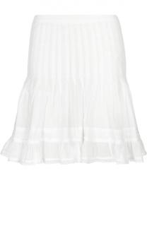Хлопковая мини-юбка с ажурной отделкой Isabel Marant Etoile