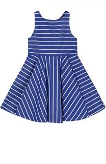 Платье из хлопка с рисунком в полоску Polo Ralph Lauren