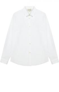 Классическая рубашка из хлопка Gucci