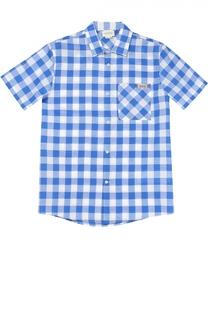 Рубашка из смеси хлопка и льна Gucci