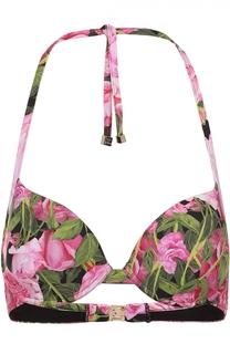 Бра с контрастным цветочным принтом Dolce & Gabbana