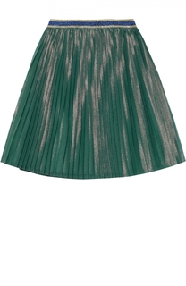 Юбка из шелка с металлизированным волокном Gucci
