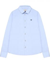 Классическая рубашка из хлопка Giorgio Armani