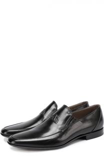 Кожаные туфли с острым мысом без шнуровки Aldo Brue