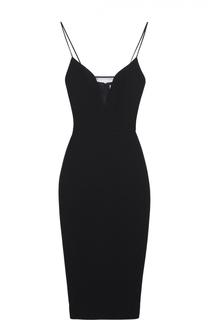 Платье-футляр на тонких бретельках с прозрачной вставкой Victoria Beckham