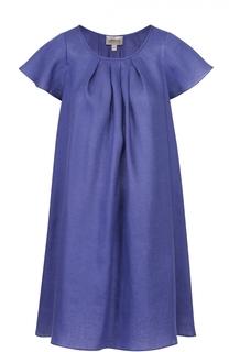 Льняное мини-платье свободного кроя Armani Collezioni