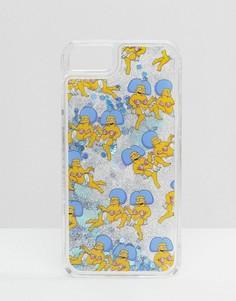 Чехол для iPhone 6/6S/7 с блестками и принтом Пэтти и Сэльмы Skinnydip x The Simpsons - Мульти