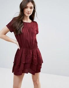 Платье с многослойной юбкой d.RA Helene - Красный