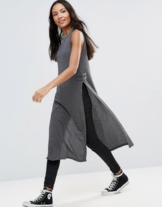 Платье в рубчик First & I - Серый
