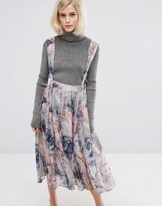 Платье в стиле комбинезона с принтом Lost Ink - Мульти