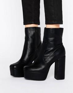 Ботинки на платформе ASOS ELLER - Черный