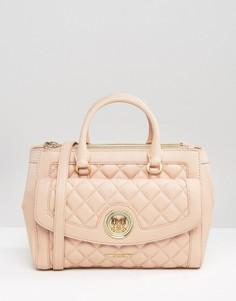 Стеганая сумка-тоут Love Moschino - Розовый