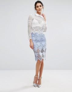 Кружевная юбка Glamorous - Синий