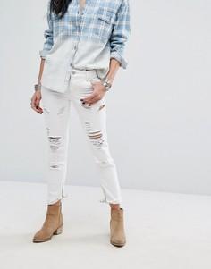 Рваные зауженные джинсы Glamorous - Белый