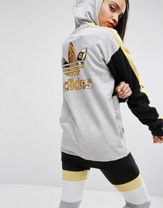 Свитшот с принтом сзади adidas Originals X Rita Ora Banned From Normal - Черный