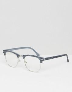 Очки с прозрачными стеклами Jeepers Peepers Greywood - Серый