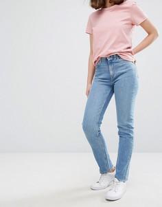 Джинсы с узкими штанинами и завышенной талией Weekday Way - Синий