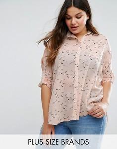 Рубашка с птицами Koko Plus - Кремовый