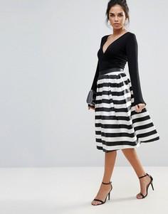 Монохромная юбка для выпускного Forever Unique - Мульти