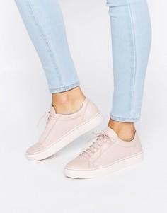 Розовые кожаные кроссовки Vagabond Zoe - Розовый
