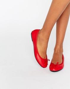 Кожаные балетки London Rebel - Красный