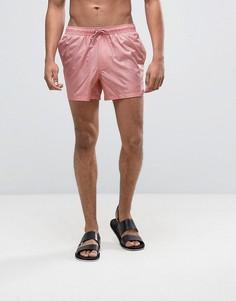 Короткие розовые шорты для плавания с мокрым эффектом ASOS - Розовый