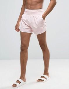 Розовые шорты для плавания с широким поясом ASOS - Розовый