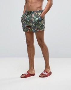 Короткие шорты для плавания с цветочным принтом ASOS - Мульти