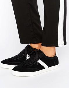 Полосатые кроссовки со шнурками ASOS DELPHINE - Черный