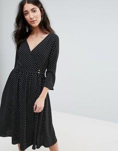 Платье миди с запахом Unique 21 - Черный