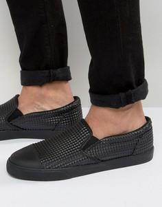 Кеды-слипоны со вставкой на носке ASOS - Черный