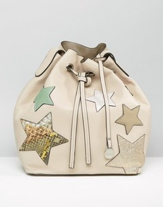 Бежевая сумка со звездами Nali - Бежевый