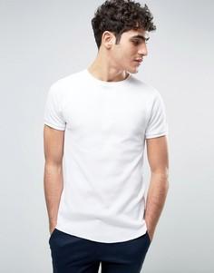Обтягивающая футболка из вафельного трикотажа Bellfield - Белый