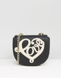 Сумка через плечо со слоганом Love Moschino - Черный