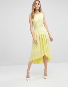 Платье с асимметричным подолом Closet - Желтый
