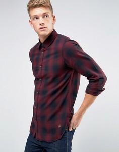 Рубашка узкого кроя в клетку Jack & Jones - Красный