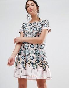 Цельнокройное платье с принтом Traffic People - Мульти