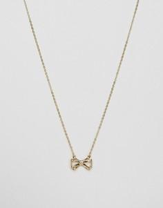 Ожерелье с подвеской-бантом Ted Baker Signy Sweetie - Золотой