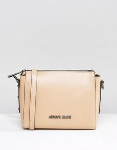 Бежевая сумка через плечо Armani Jeans - Бежевый