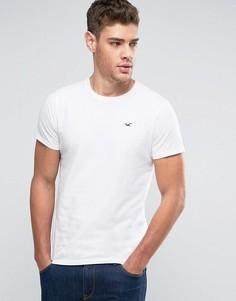 Белая узкая футболка с логотипом Hollister Must Have - Белый