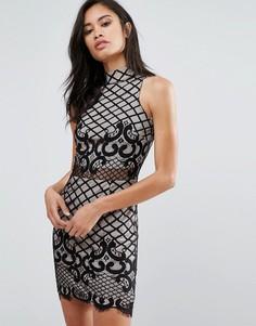 Облегающее кружевное платье Parisian - Черный