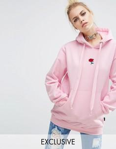 Oversize-худи с вышитой розой Adolescent Clothing - Розовый