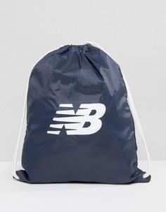 Темно-синий рюкзак на затягивающемся шнурке New Balance - Темно-синий