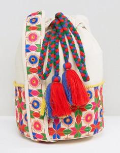 Сумка на плечо с цветочным принтом и шнурком Glamorous - Мульти