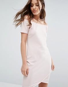 Платье мини с открытыми плечами Daisy Street - Розовый