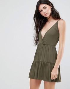 Платье на бретельках с многоярусной юбкой Daisy Street - Зеленый