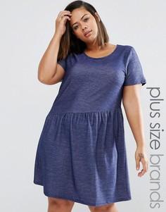 Свободное платье размера плюс Junarose - Синий
