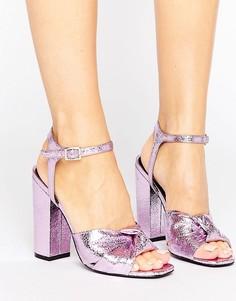 Сандалии с узелком спереди ShoeLab - Розовый