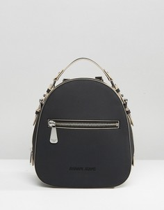 Черный рюкзак с тисненым логотипом Armani Jeans - Черный