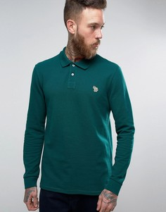 Поло цвета хаки с длинными рукавами и логотипом PS by Paul Smith - Зеленый
